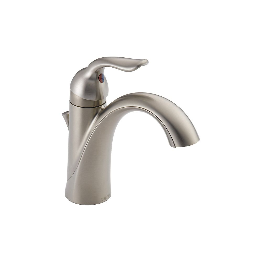 Delta Lahara Single Handle Centerset Lavatory Faucet in Stainless Steel