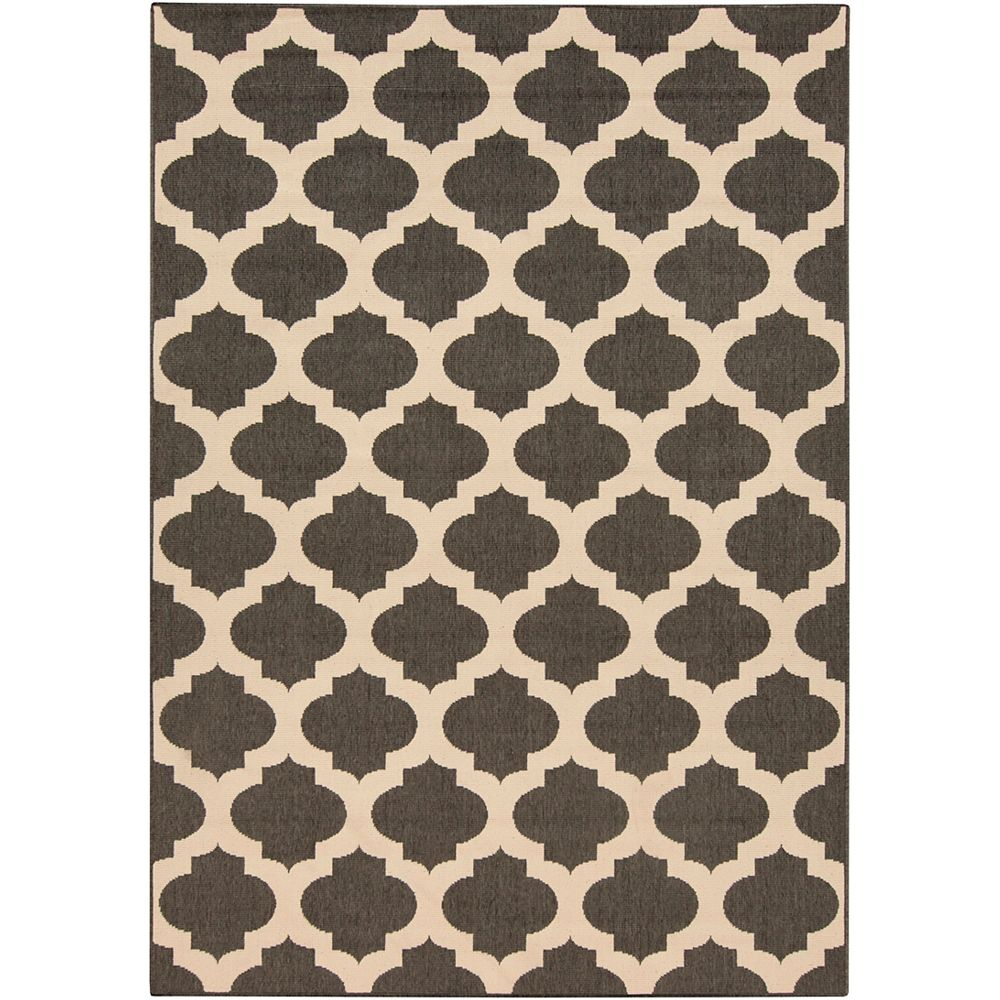 Home Decorators Collection Aggie noir 2 ft. 3 in. X 4 ft. 6 in. espace exterieur tapis