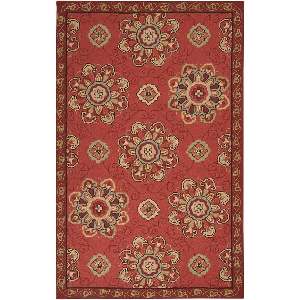 Home Decorators Collection Kelly rouge 3 ft. X 5 ft. espace exterieur tapis