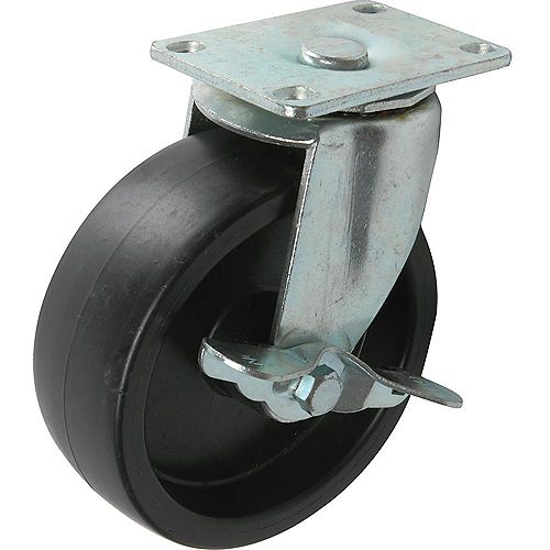 5 inch Tool Box Swivel Caster with 400 lb. Load Rating and Top Brake