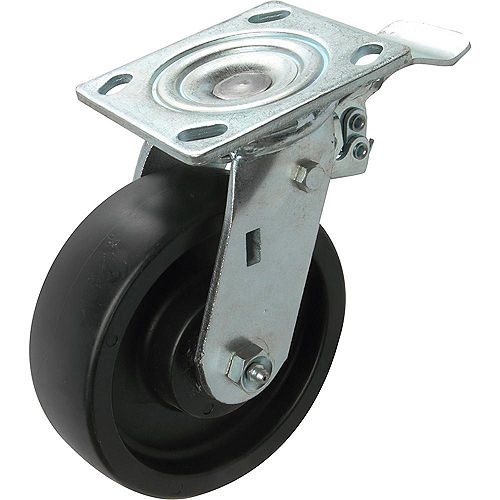 6 inch Tool Box Swivel Caster with 600 lb. Load Rating and Side Brake