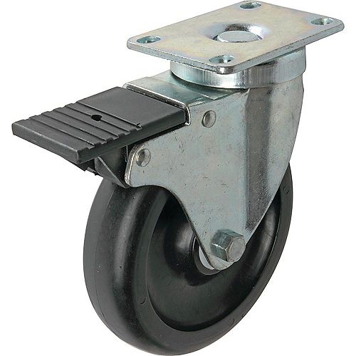5 inch Tool Box Swivel Caster with 400 lb. Load Rating and Side Brake