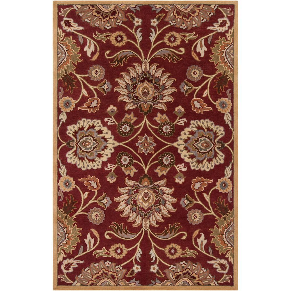 Artistic Weavers Cambrai Burgundy 9 Feet x 12 Feet Indoor Area Rug