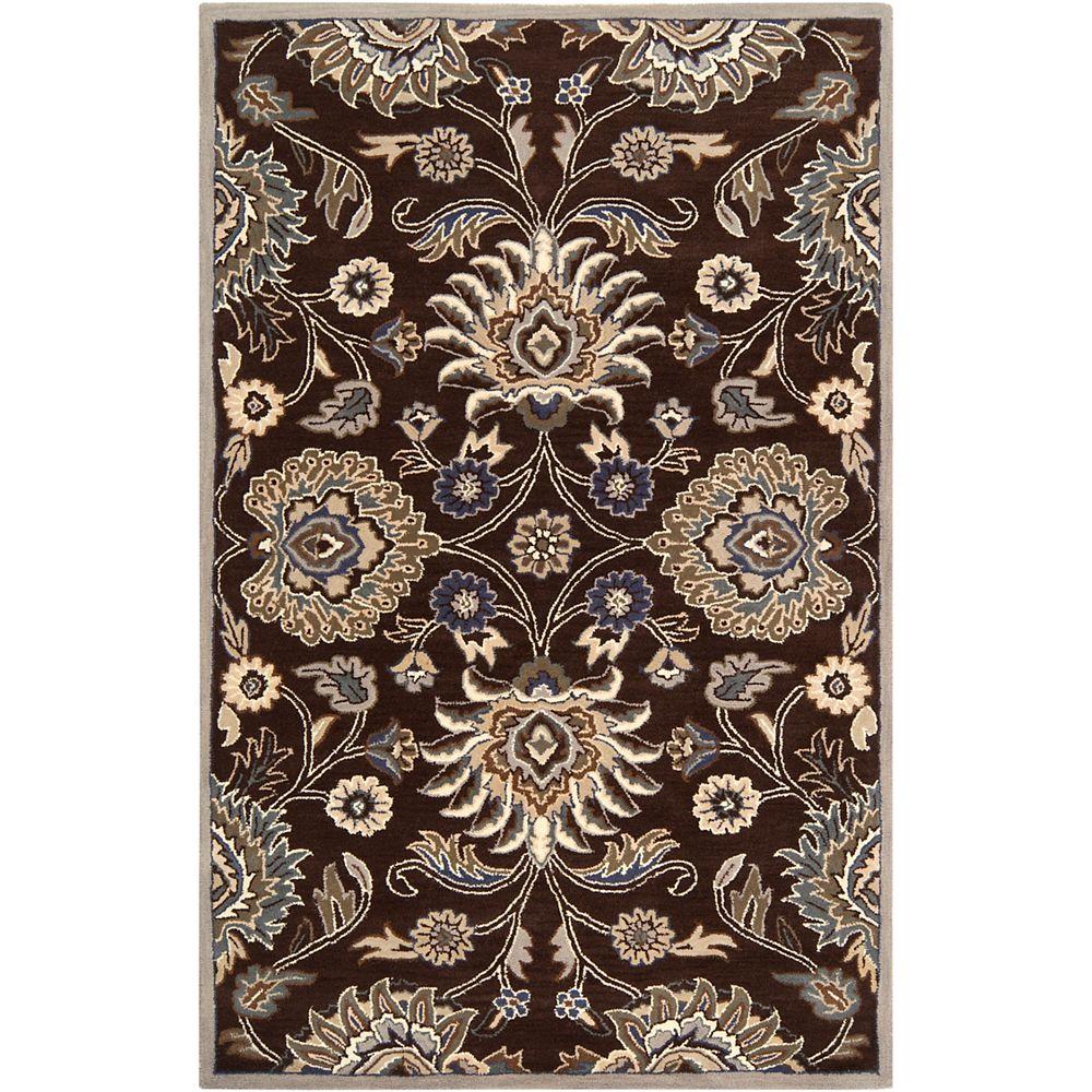 Artistic Weavers Cambrai chocolat 4 ft. X 6 ft. tapis interieur