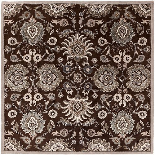 Artistic Weavers Cambrai Chocolate 9 Feet 9 Inch x 9 Feet 9 Inch Square Indoor Area Rug