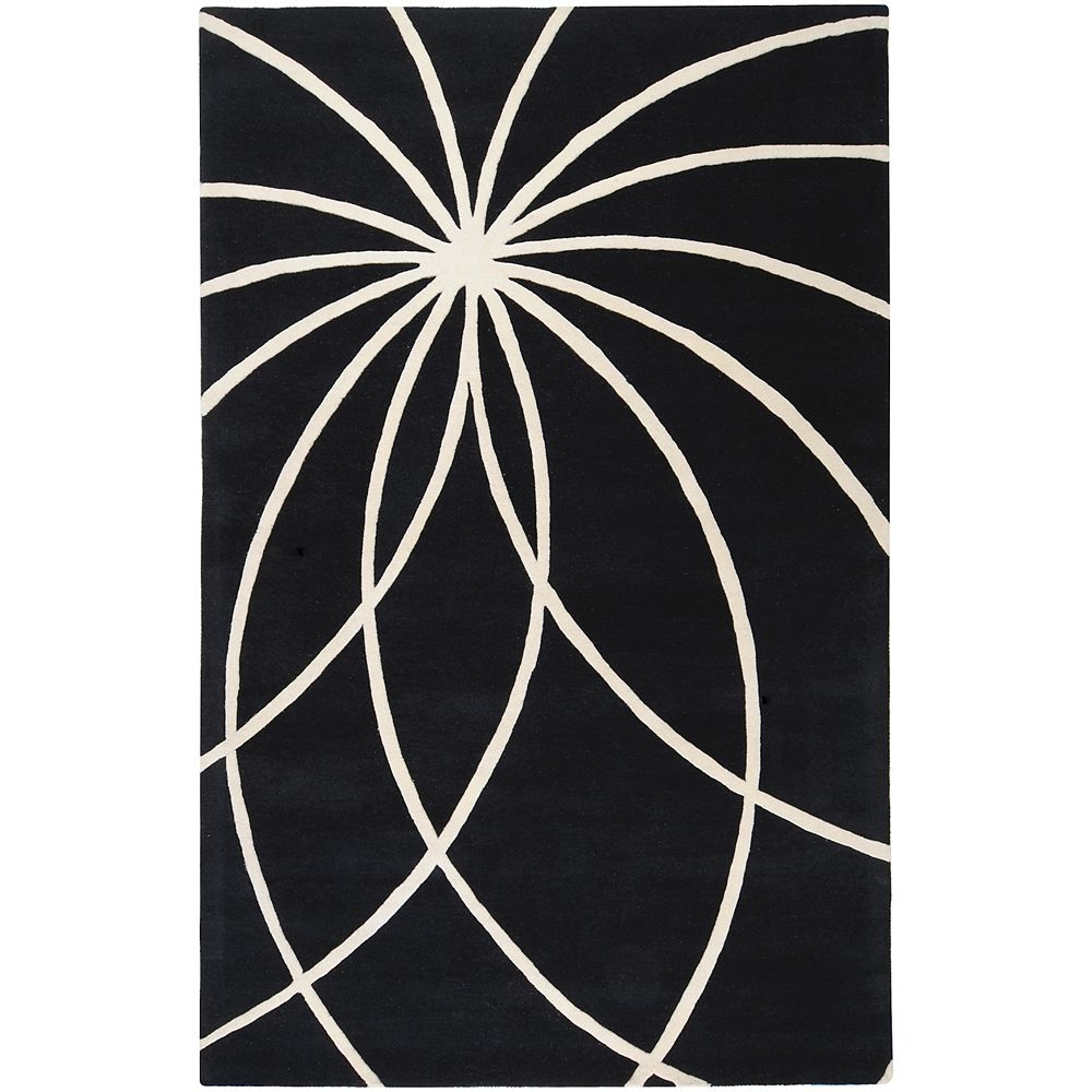 Artistic Weavers Oakura Black 4 Feet x 6 Feet Indoor Area Rug
