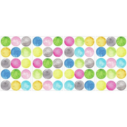 RoomMates Stickers Muraux Water Color Dots