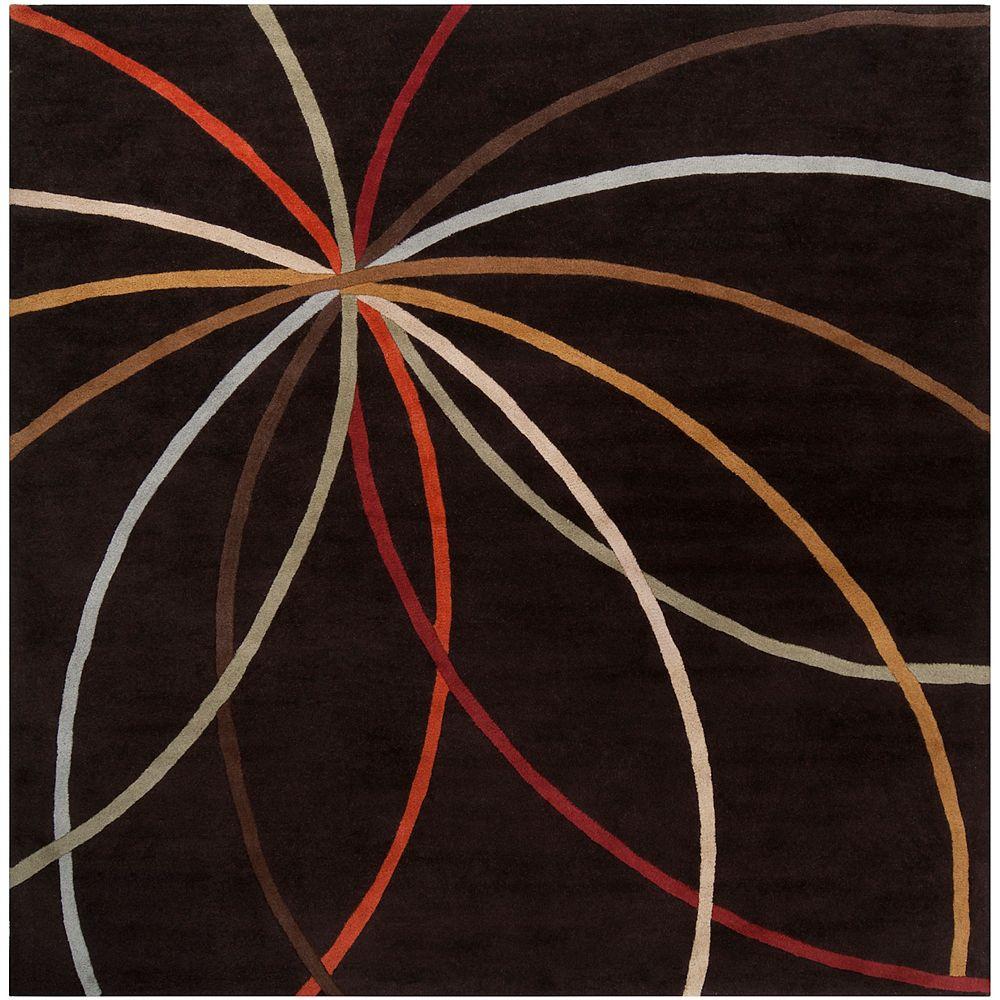 Artistic Weavers Obihiro Black 6 Feet x 6 Feet Square Indoor Area Rug