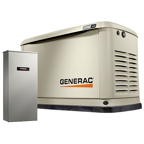 11,000W (LP)/10,000W (NG) Air Cooled Standby Generator with 16 Circuit 100 Amp Transfer Switch & Wi-Fi