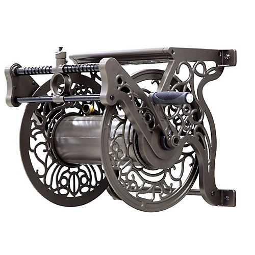 Wall Mounted Cast Aluminum Hose Reel w/Guide