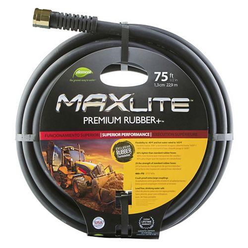 Element MAXLite Premium 1/2-inch x 75 ft. Rubber Hose