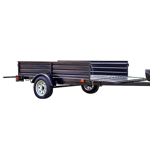 Single Axle Multi-Utility Trailer With Tilt And Extension Capabilities