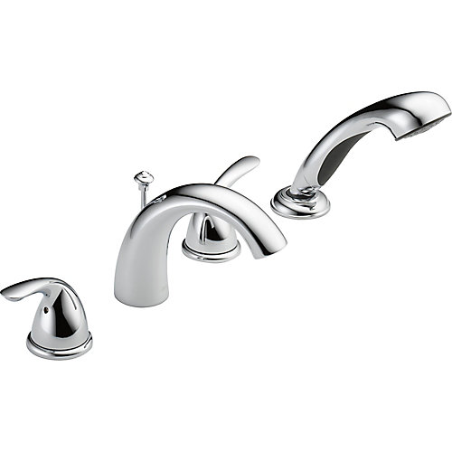 Classic Roman Deck-Mount Tub  Shower Faucet in Chrome (Valve Sold Separately)