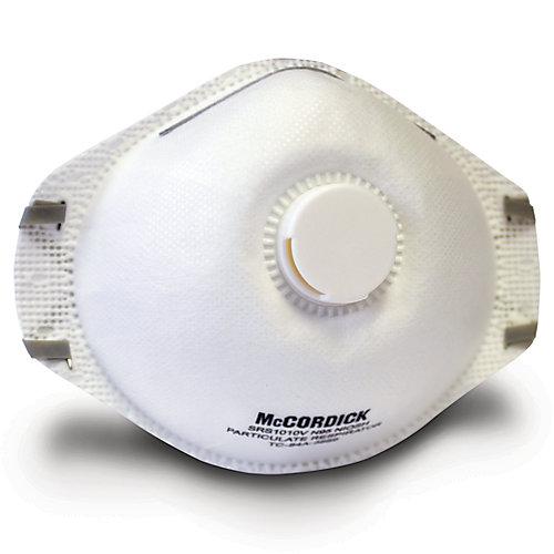 Masque jetable N95 avec vanne d'expriation, paquet de 5