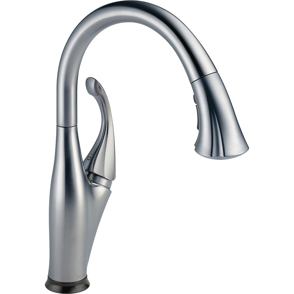 Delta Single Handle Pull-Down Kitchen Faucet with Touch2O(R) Technology, Arctic Stainless