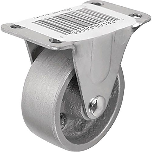2 inch Cast Iron Rigid Caster with 125 lb. Load Rating