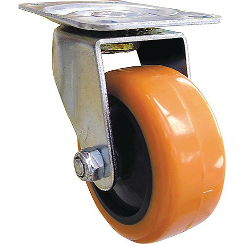3 inch Orange TPU Swivel Caster with 225 lb. Load Rating