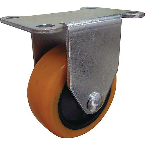 3 inch Orange TPU Rigid Caster with 225 lb. Load Rating