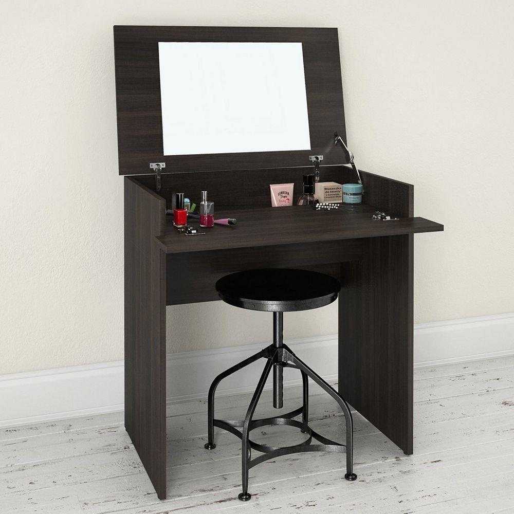 Nexera Nexera Jet Set Desk/Vanity in Ebony