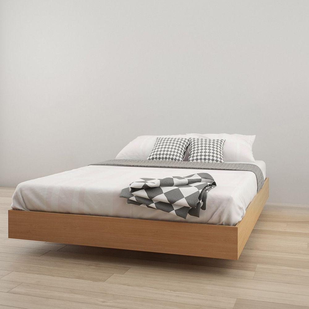 Nexera 346005 Queen Size Platform Bed, Natural Maple