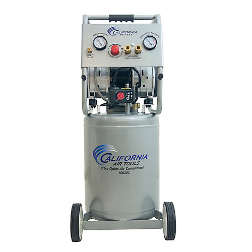 10020C Ultra Quiet  & Oil-Free  2.0 Hp, 10.0 Gal. Steel Tank Air Compressor