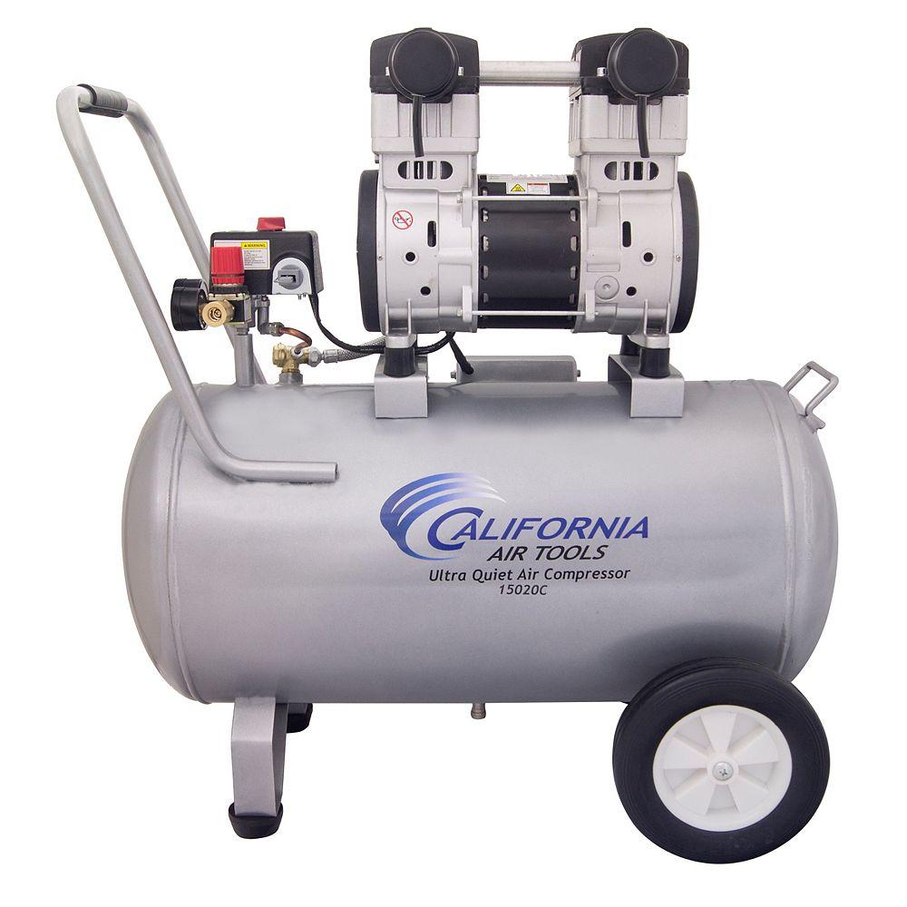 California Air Tools 15020C Ultra Quiet & Oil-Free 2.0 HP, 15.0 Gal. Steel Tank Air Compressor