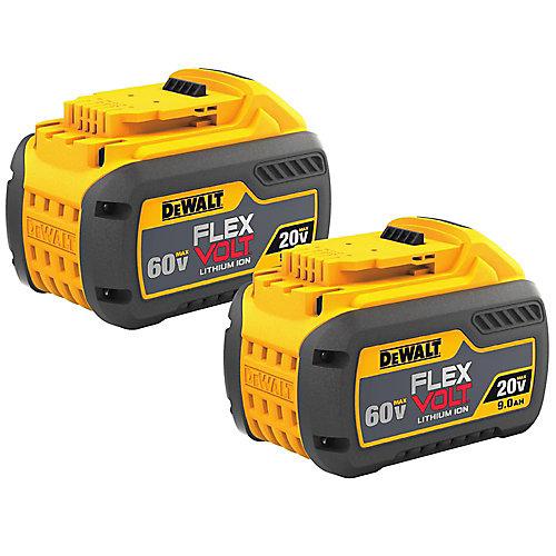 FLEXVOLT 20V/60V MAX Lithium-Ion Battery Pack (2-Pack)