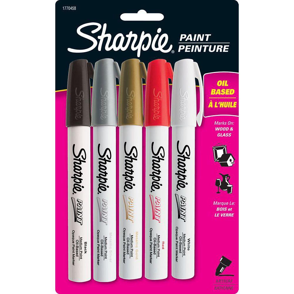 Sharpie Paint Medium Asst (5-Pack)