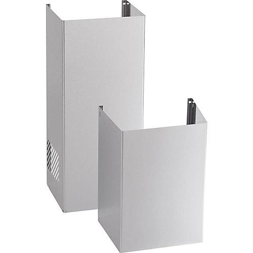Trousse de cache-conduit pour plafond de 9 pi, pour les hottes de cuisine- Acier Inoxydable