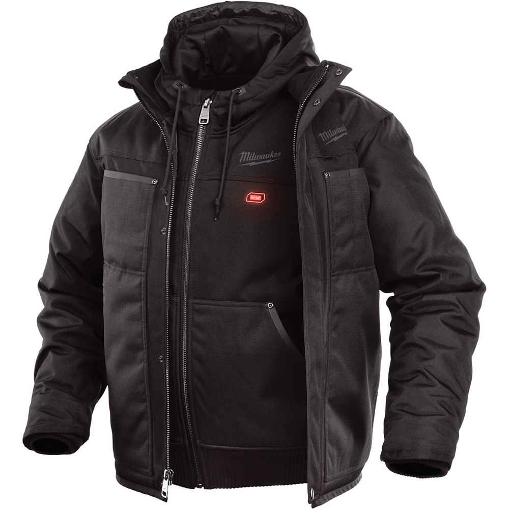 Milwaukee Tool M12 Heated 3-in-1 Jacket Only - Black - Small