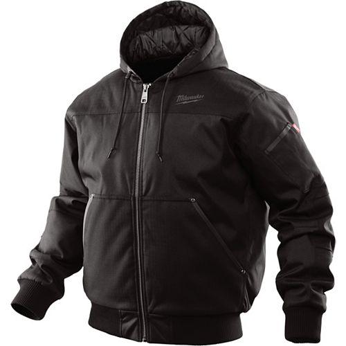 Manteau à capuchon noir pour homme