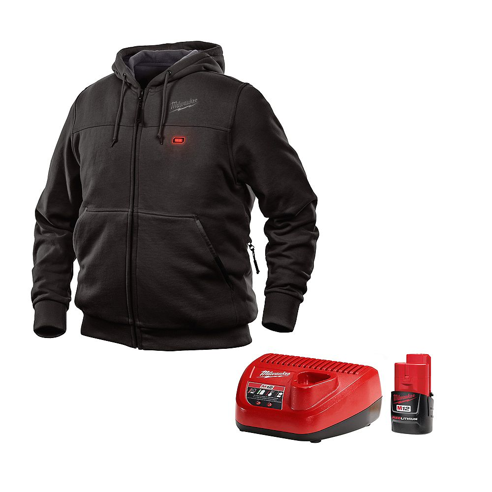 Milwaukee Tool M12 Heated Hoodie Kit - Black - Large
