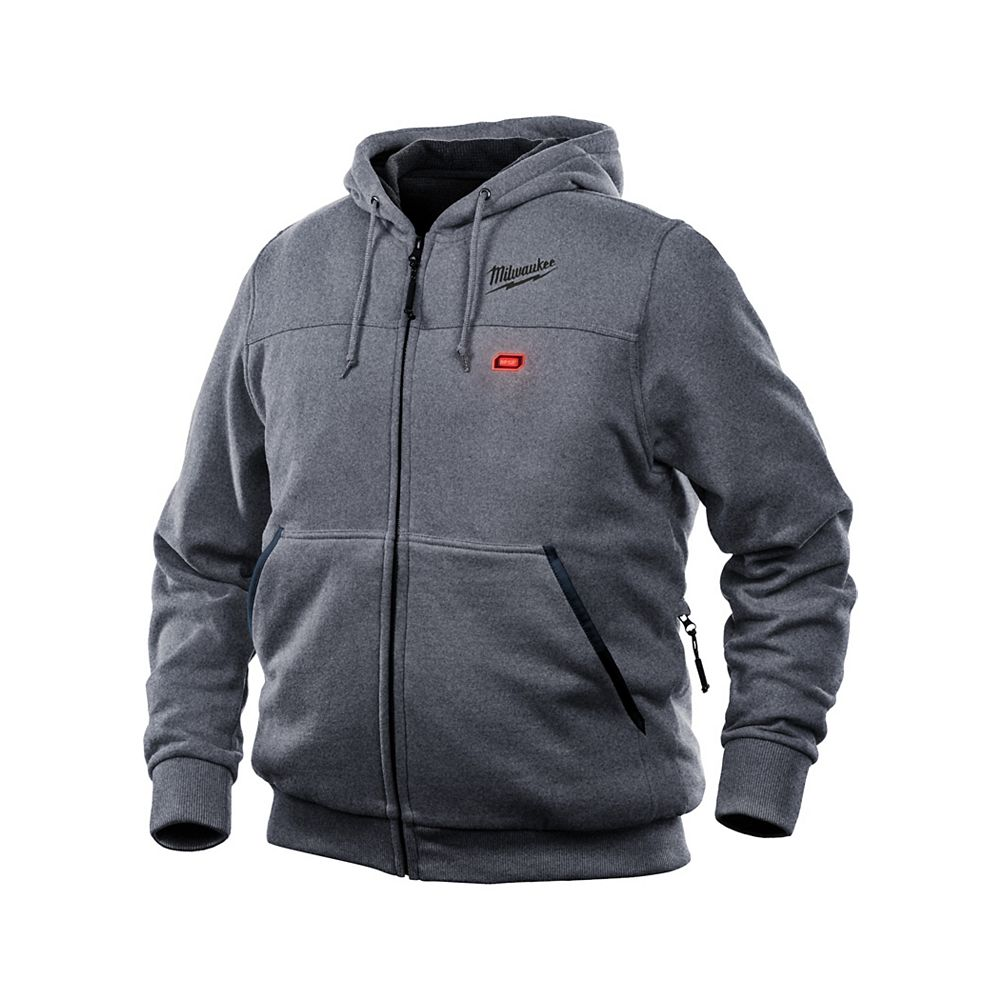 Milwaukee Tool M12 Heated Hoodie Kit - Gray - Large