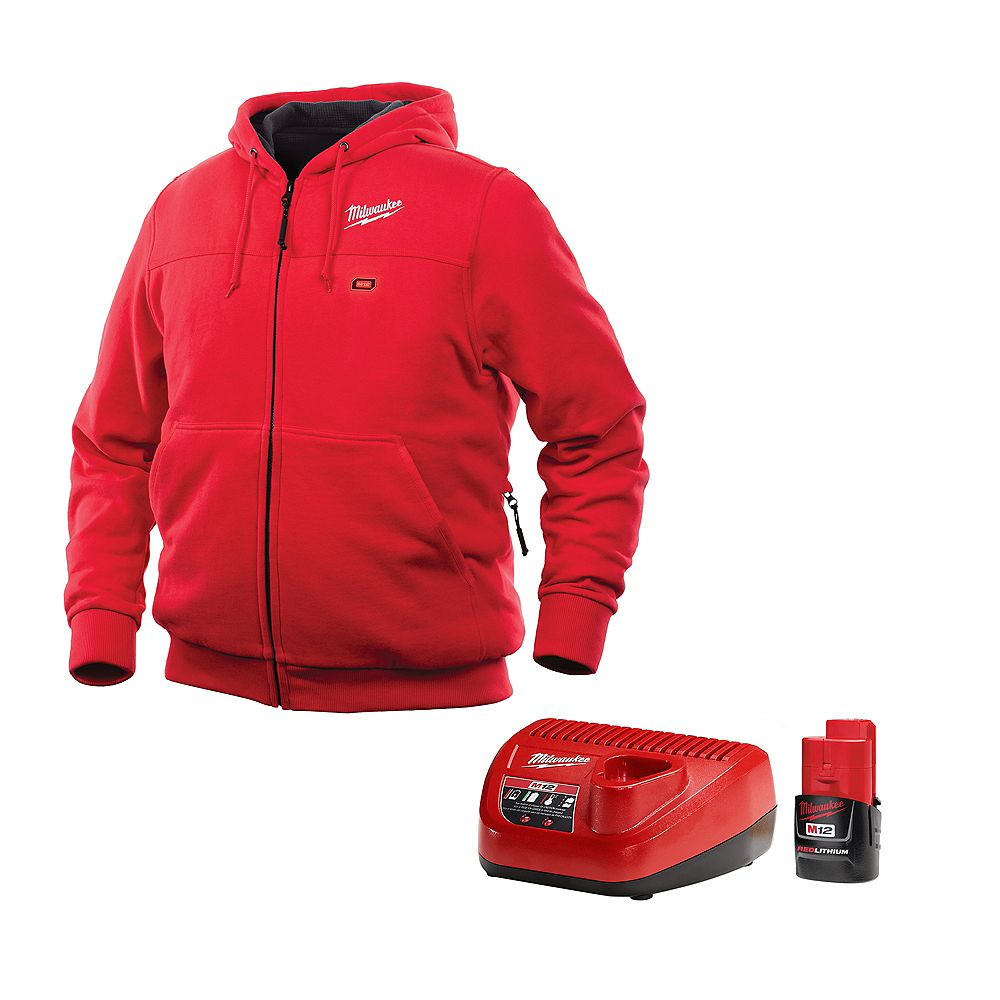Milwaukee Tool M12 Heated Hoodie Kit - Red - Medium