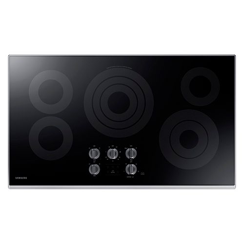36-inch Radiant Electric Cooktop in Stainless Steel with 5 Elements and Wi-Fi