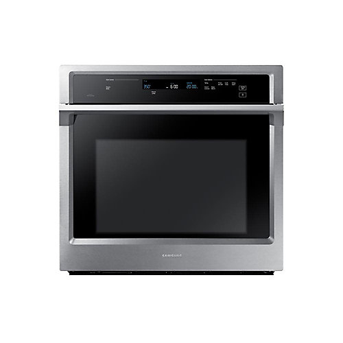 30-inch 5.1 cu.ft. Single Electric Wall Oven with Convection and Wi-Fi in Stainless Steel