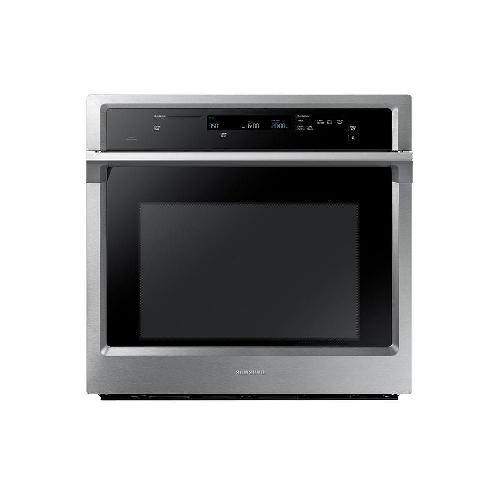 Samsung 30-inch 5.1 cu.ft. Single Electric Wall Oven with Convection and Wi-Fi in Stainless Steel