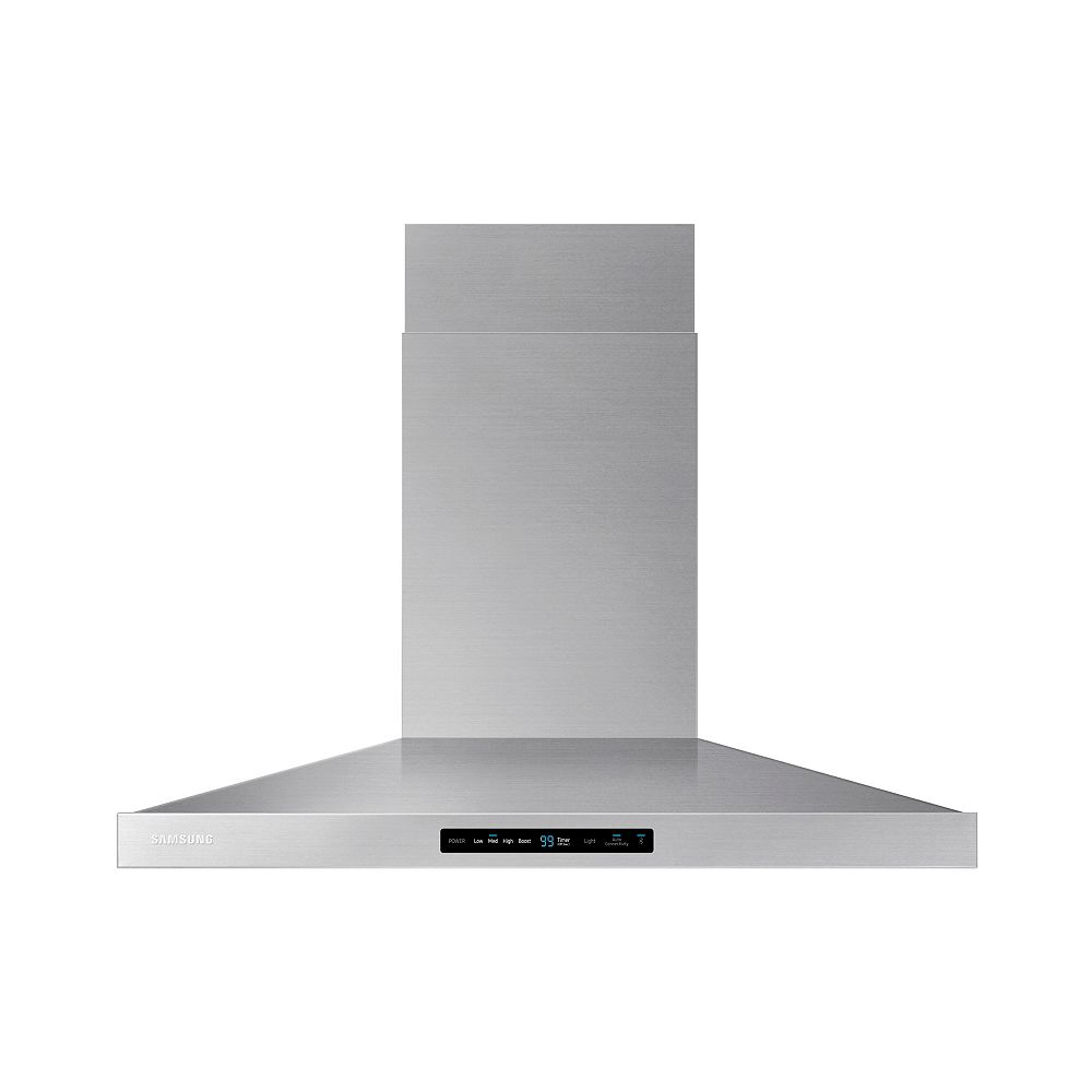 Samsung 36-inch Wall Mount Range Hood with Bluetooth in Stainless Steel