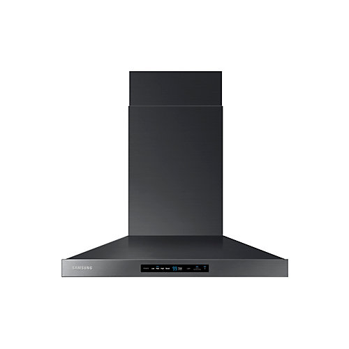 30-inch Wall Mount Range Hood with Bluetooth in Black Stainless Steel