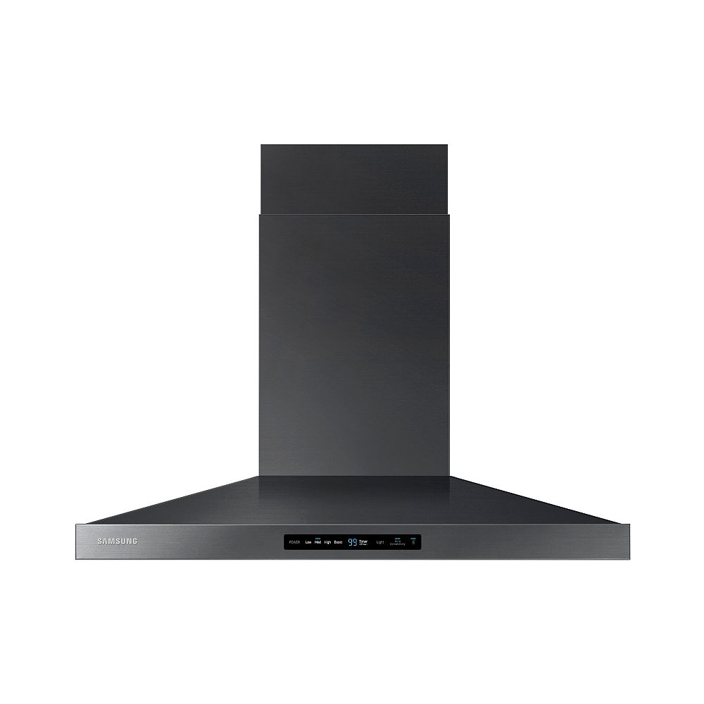 Samsung 36-inch Wall Mount Range Hood with Bluetooth in Black Stainless Steel