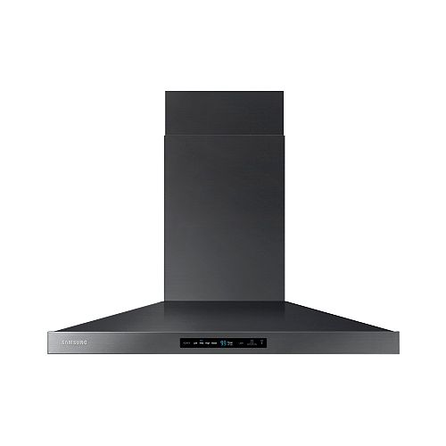 36-inch Wall Mount Range Hood with Bluetooth in Black Stainless Steel