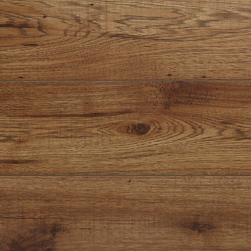 12mm Brown Hickory Laminate Flooring (16.57 sq. ft. / case)