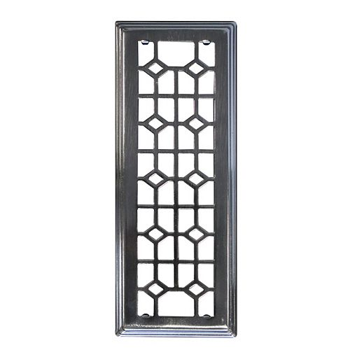 Hampton Bay 3x10 Inch Abstract With Beveled Edge In Antique Nickel Floor Register (3-Pack)