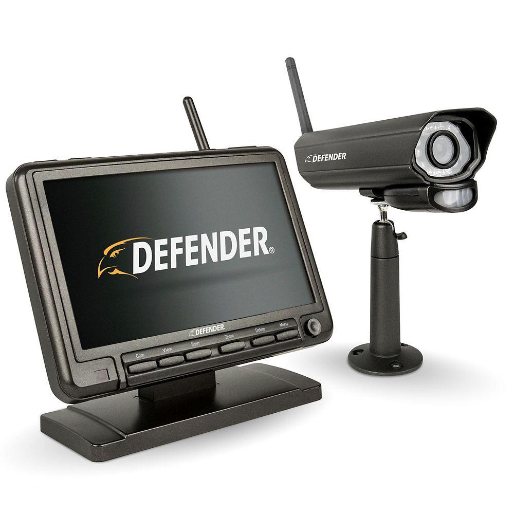 Defender Moniteur de sécurité sans fil de 7 pouces pour DVR avec caméra de vision nocturne de Defender<sup>®</sup>