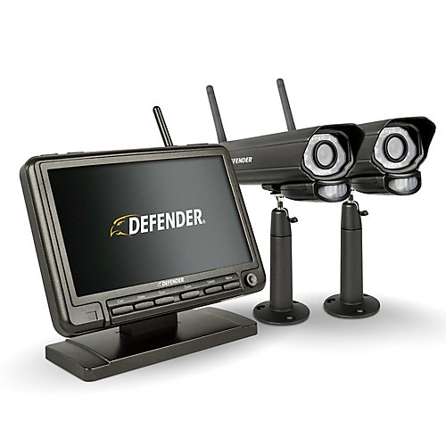 PHOENIXM2 Digital Wireless 7-inch Monitor DVR Security System with 2 Night Vision Cameras