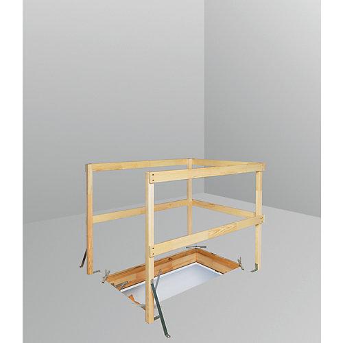 "Échelle de grenier (Balustrade) LXB-U 30""x54"""
