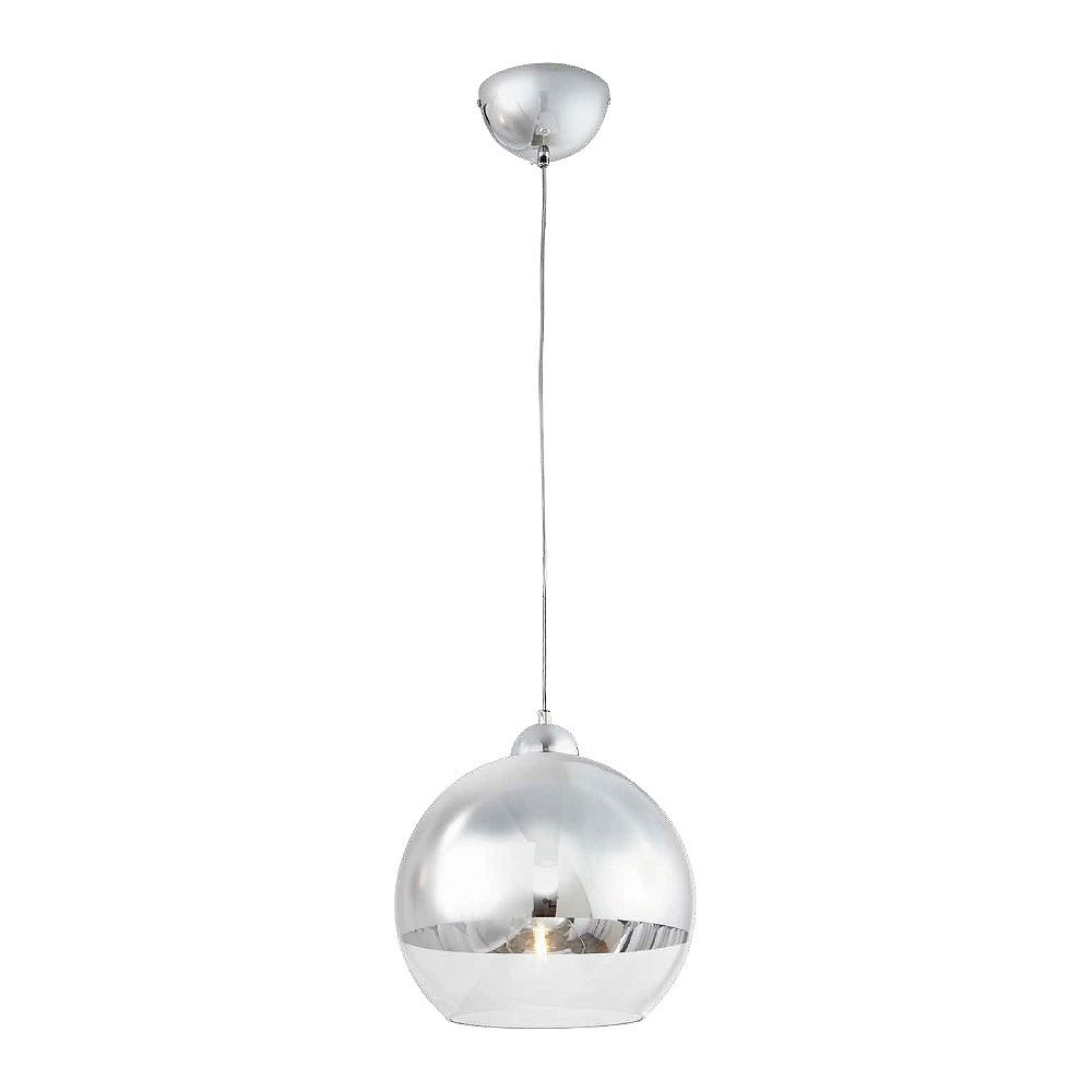 Home Decorators Collection Jaiden 1 Light 40w Chrome Globe Pendant With Clear Glass Shade The Home Depot Canada