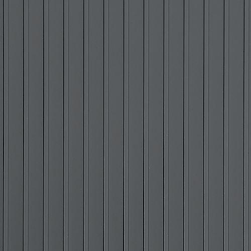 Revêtement protecteur nervuré de qualité standard, 7,5 x 17pi , gris