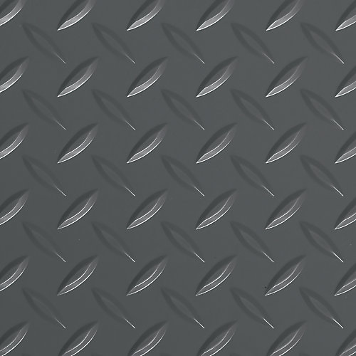 7.5 ft. x 17 ft. Diamond Tread Commercial Grade Slate Grey Garage Floor Cover and Protector