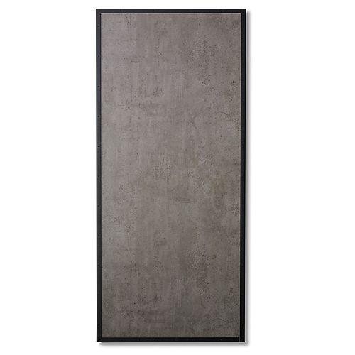 Slab Concrete Look And Steel Door 1 X 33 X 84 Inch